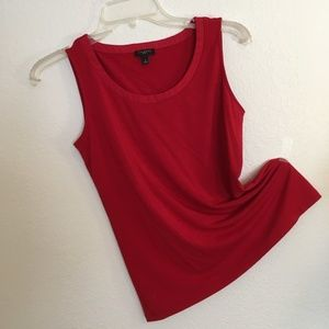 TC #8: Talbots Scoop-neck Shell - Solid - True Red